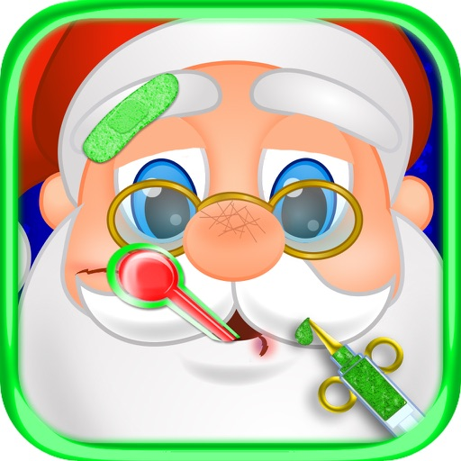 Christmas Doctor Office Hospital Santa Emergency