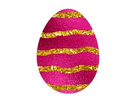 Celebrate Easter with this FREE set of 64 foil Easter egg stickers decorated with glitter, just to add that little bit of extra sparkle to your iMessage conversations during the holiday season