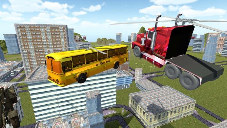 Flying Truck Future Car Games screenshot-4