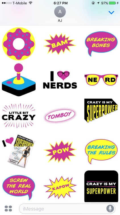 AJ Mendez Brooks Crazy Is My Superpower Stickers screenshot-2