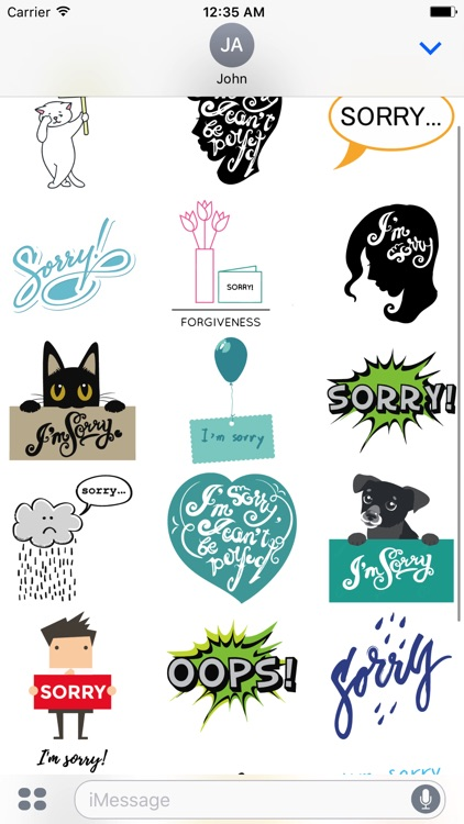 Say Sorry with Stickers Pack