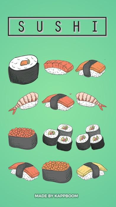 Hand Drawn Sushi Stickers screenshot one
