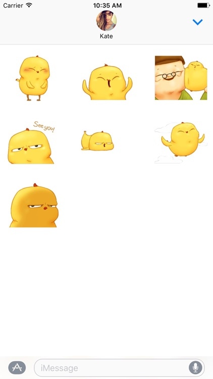Funny Baby Chicken Animated Stickers