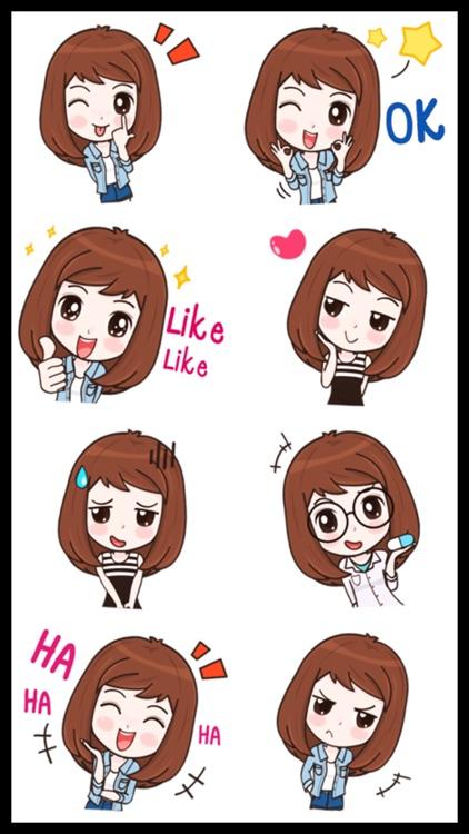 Lovely Girl Sticker Pack screenshot-4