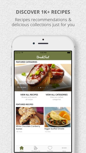 Healthy breakfast recipes and shopping list on the app store screenshots forumfinder Images
