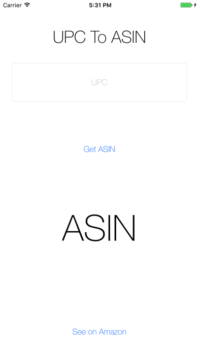 UPC To ASIN - Simple UPC To ASIN Converter screenshot one