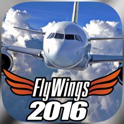 Ícone do app Flight Simulator FlyWings Online 2016 HD