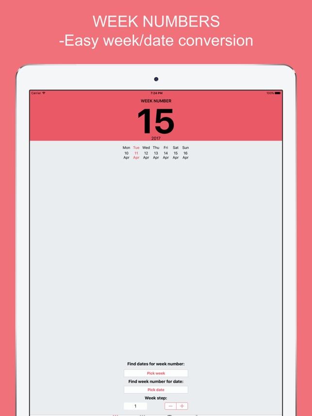Deutsche Wochennummern mit Widget Screenshot