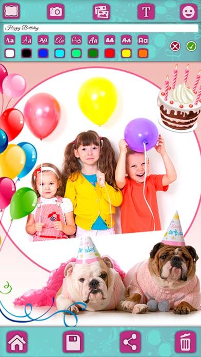 Birthday Greeting Cards Stickers Photo Editor