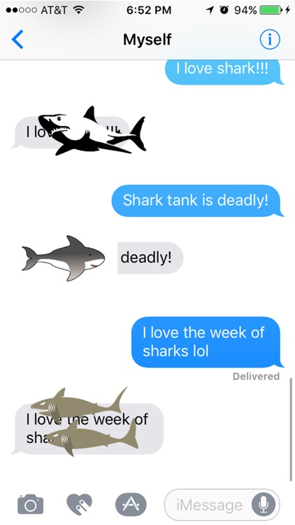 Sharks : The Destructors of the Sea Stickers