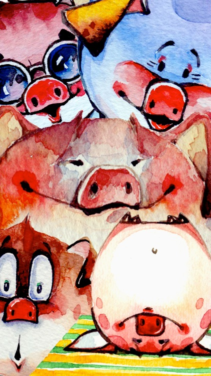 Watercolor Piggies screenshot-4