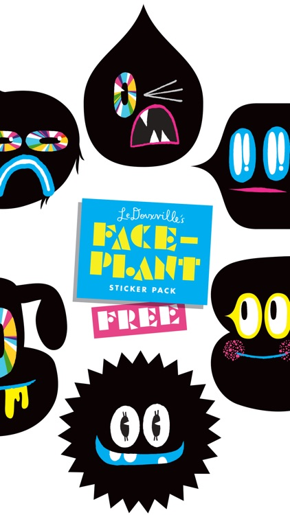 FACEPLANT FREE! sticker pack