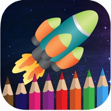 Activities of Rocket space coloring book for kids games