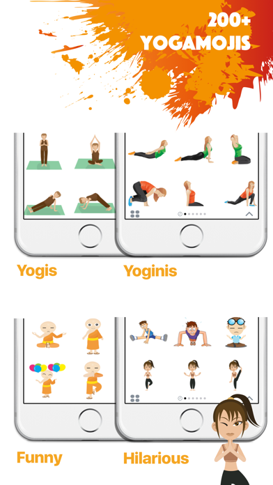 YOGAMOJI - Yoga Emojis & Stickers Keyboard screenshot two