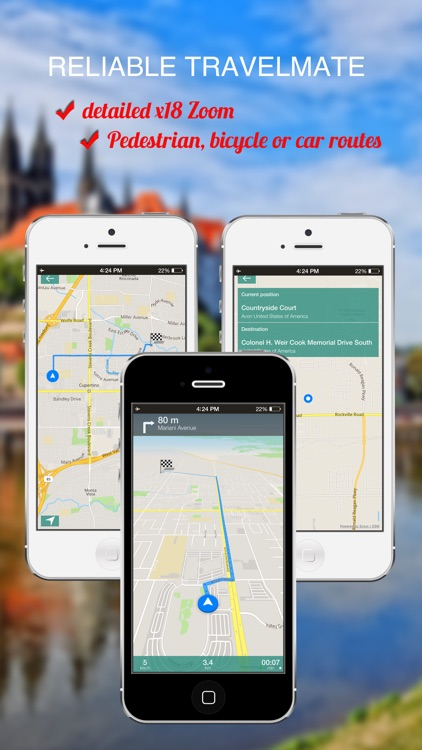 Helsinki, Finland : Offline GPS Navigation