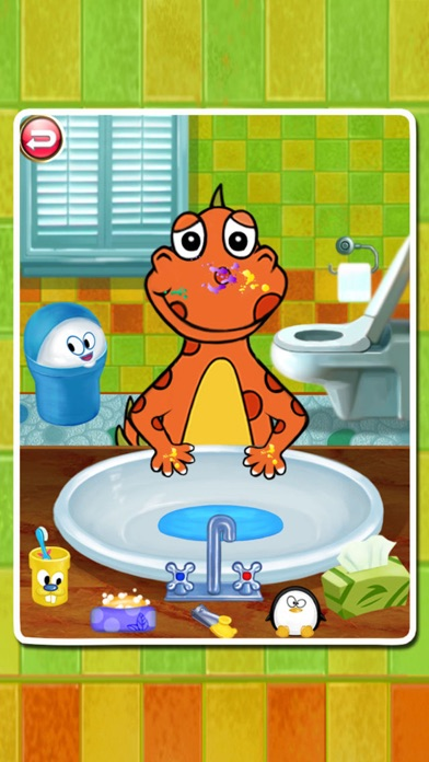 Dino Bath & Dress Up- Potty training game for kids screenshot two