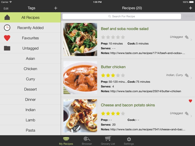 Oregano Recipe Manager