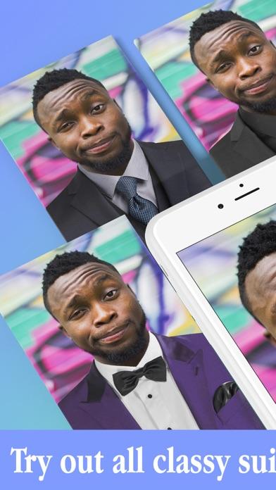 Männer Anzug Schick Bilderrahmen – Modisch BilderScreenshot von 3