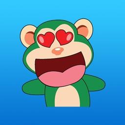 Funny Green Monkey Sticker
