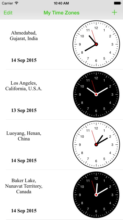 World Clock - Easy Time Zone Converter Widget screenshot-3