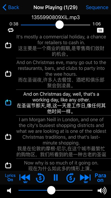 Istudy Player Lyrics Displaysentence Repe Ion By Xue Ping Zhou Ios United States Searchman App Data Information