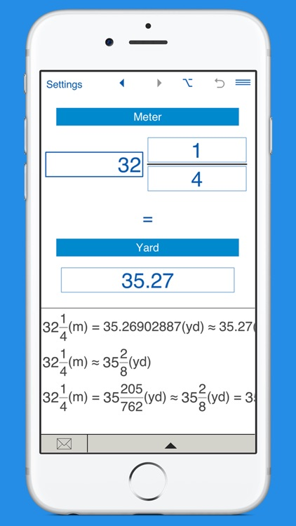 Yards to meters and meters to yards converter screenshot-3