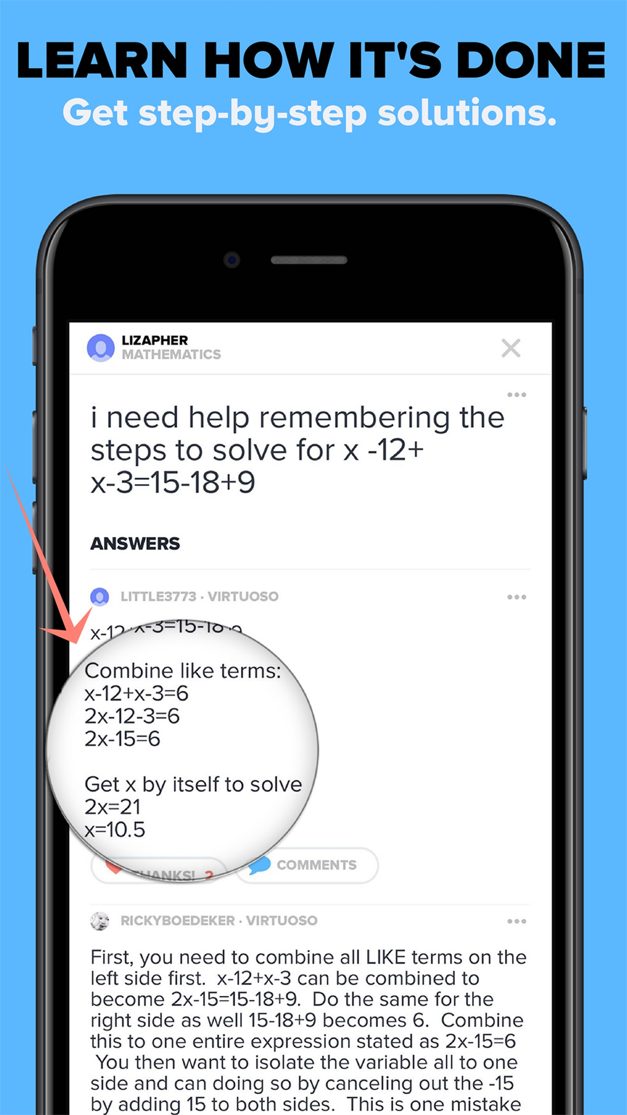 Brainly Homework Help & Solver Screenshot