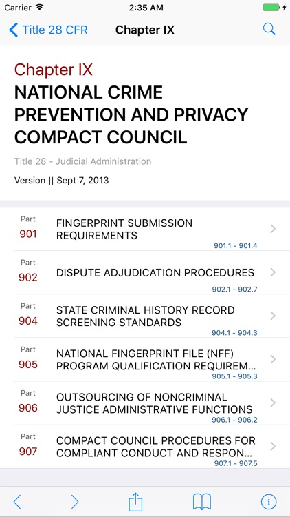 28 CFR - Judicial Administration (LawStack Series) screenshot-1