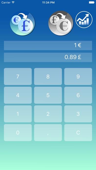Euro zu Pfund Sterling WährungsrechnerScreenshot von 1