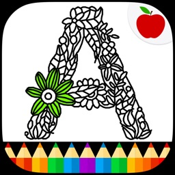Adult Coloring Books: Alphabet