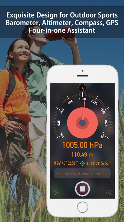 Barometer & Altimeter - for outdoor sports,fishing screenshot-0