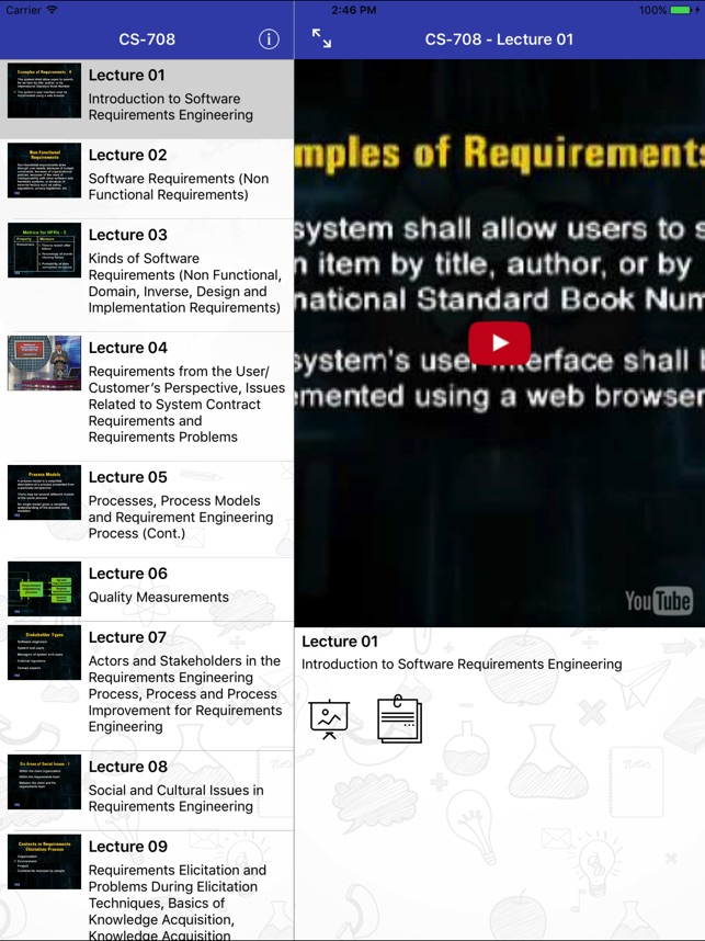 CS708 - Software Requirement Engineering on the App Store