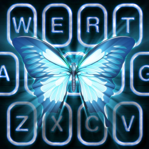 Neon Butterfly Keyboard by Branislav Ristivojevic