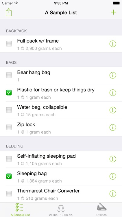 Backpacker Checklist screenshot-0