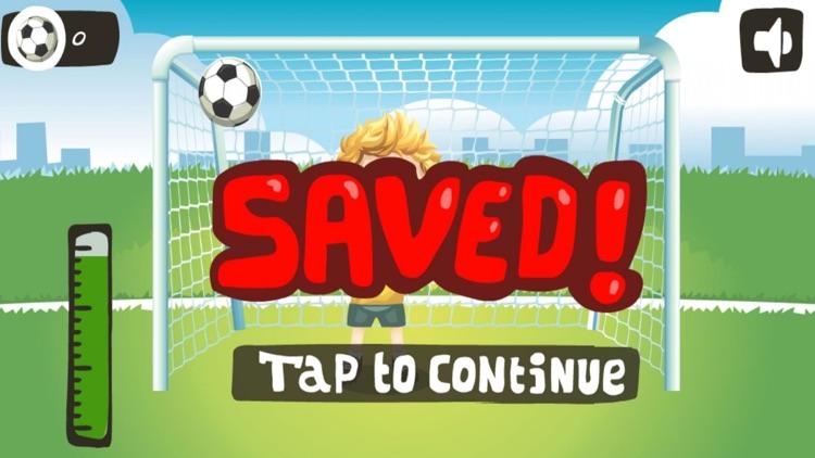 Football penalty Hit the ball