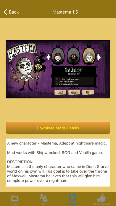 Mods for Don't Starve and Don't Starve Together by Chi Kau