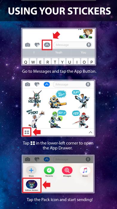 Voltron Stickers screenshot 1