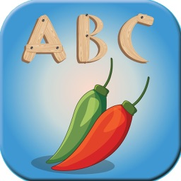 ABC Vegetable Writing Alphabet Baby Dotted Kid