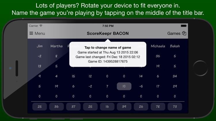 Score Keeper BACON screenshot-3