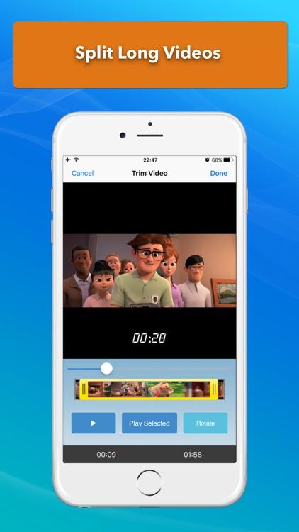 Video Slimmer: Shrink, trim, merge, rotate movies screenshot-3