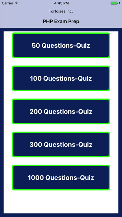 PHP Quiz Questions screenshot one