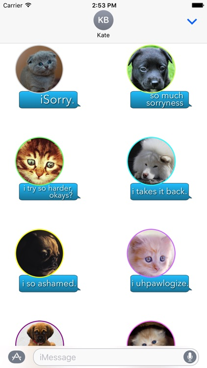 iSorry: a·PAW·logy Stickers screenshot-4