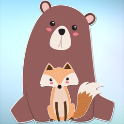 Cute Bear and Fox Animal Sticker Pack