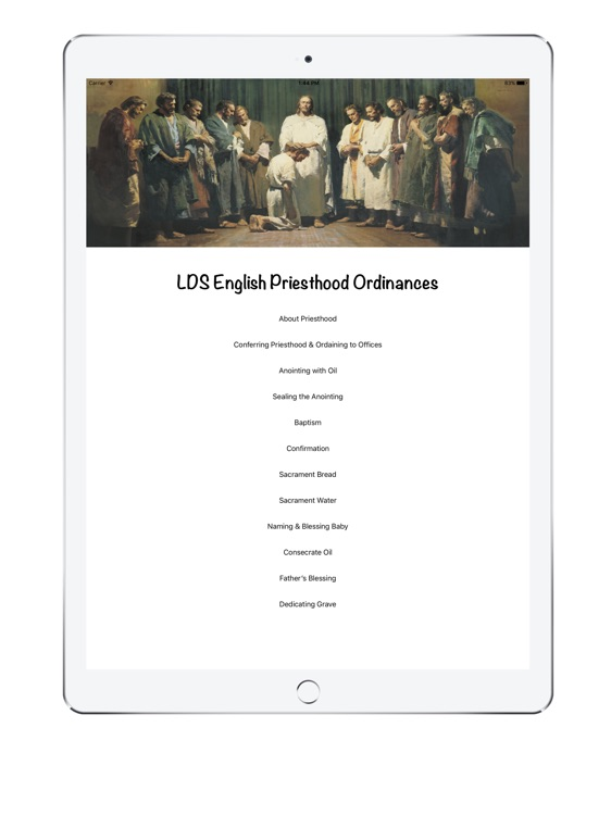 LDS English Priesthood Ordinances iPAD Version