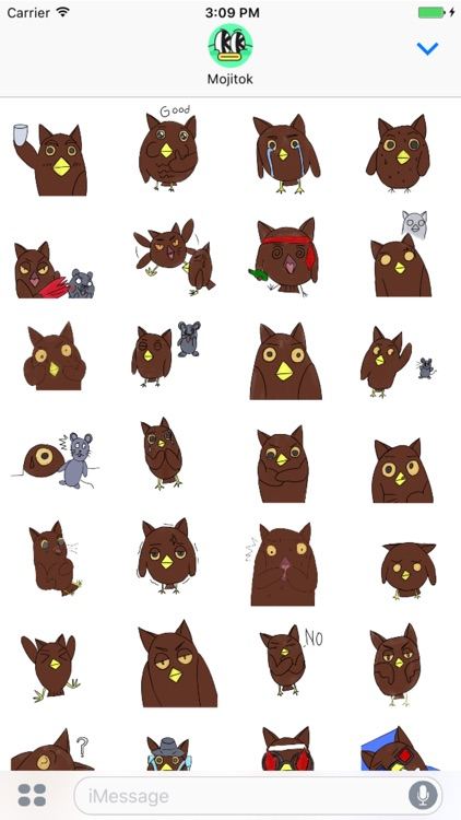 Unique Mr.Owl Stickers