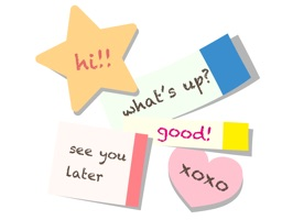 Let's send your message to put a sticky note