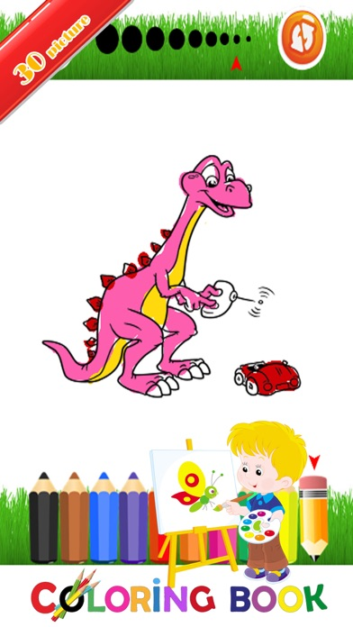 Dinosaur Coloring Page For Kid : Educational Game screenshot two