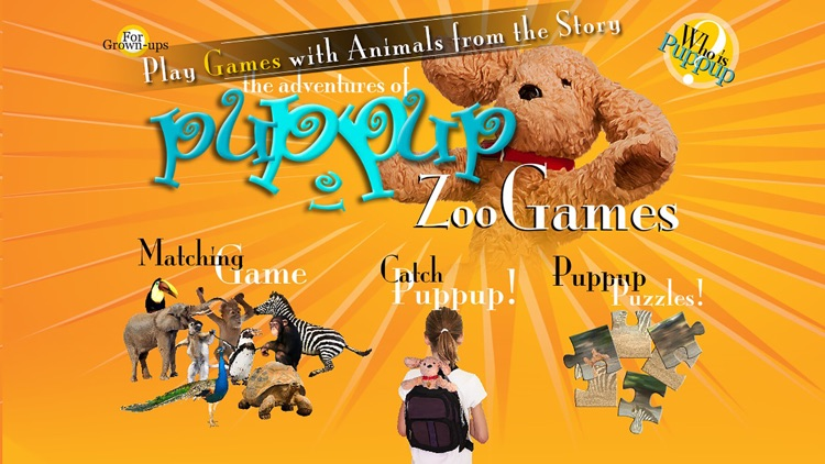 The Adventures of Puppup Zoo Games for iPhone