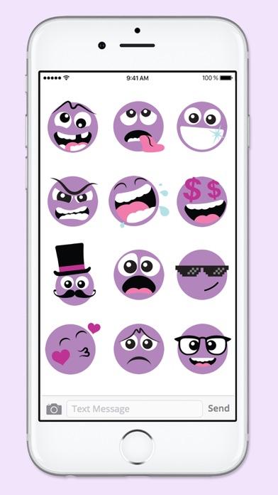 Purple People Emojis Sticker Pack screenshot four