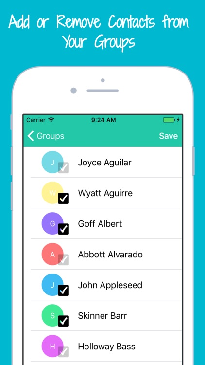 Contacts Group Texting & SMS Mass Text Messaging screenshot-3